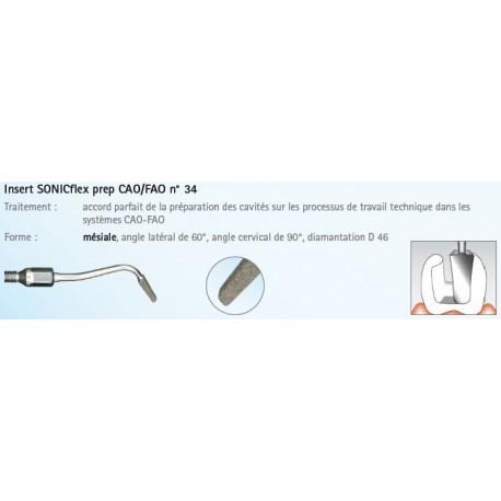 INSERT N°34A PREP CAD/CAM MESIAL DIAMANTE SONICFLEX