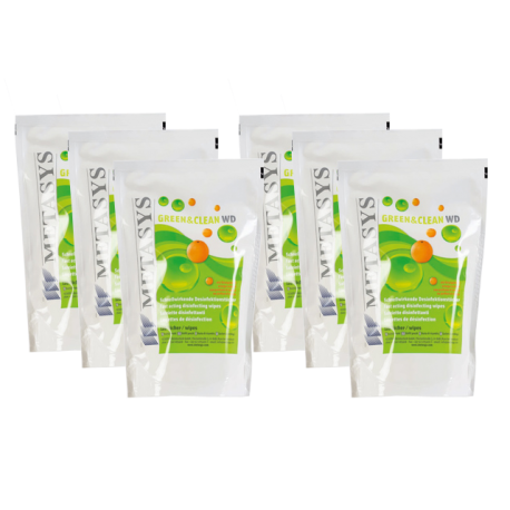 GREEN CLEAN WD - SET DE 6 RECHARGES DE 120 LINGETTES