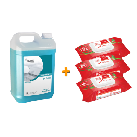 Pack 3H RAPID 5L / SH PRO WIPES