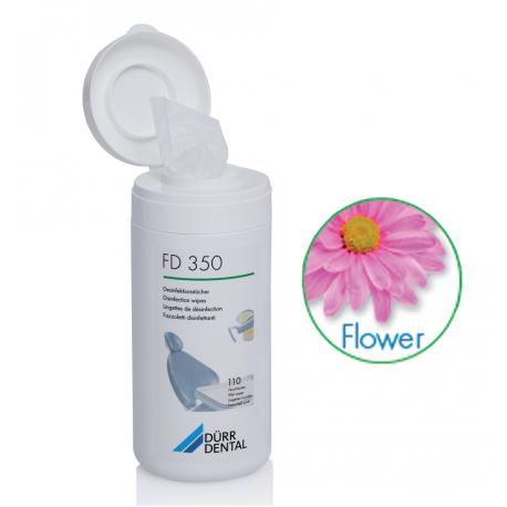 BOITE LINGETTES FLOWER FD350  DURR DENTAL (la boîte de 110)