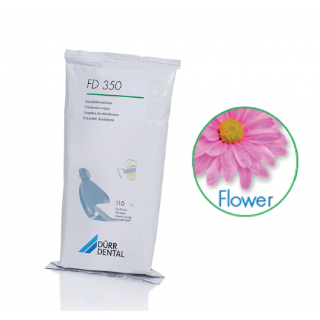 RECHARGE LINGETTES FLOWER FD350 DURR DENTAL (la recharge de 110)