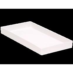 PLATEAU SANS COMPARTIMENT (9,5 x 20 cm) BLANC