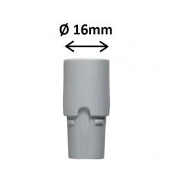 Douille rotative grise Ø16mm avec prise d'air Dürr dental