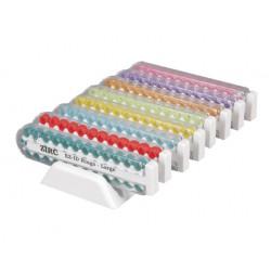 Assortiment de 8 kits d'anneaux silicone Ø6,4mm (x25) teinte néon