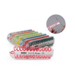 Assortiment de 8 kits d'anneaux silicone Ø1cm (x25) teinte néon