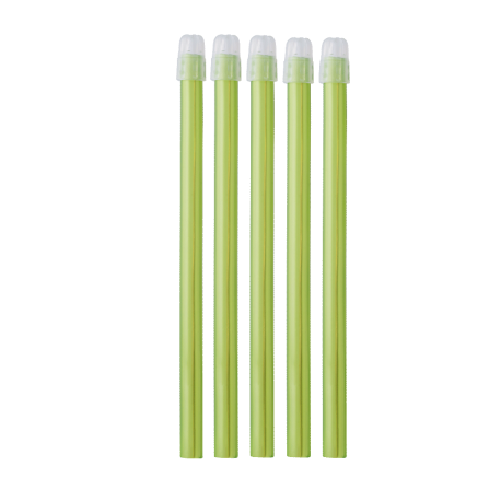 Pompe à salive EM15 couleur lime transparent Monoart (sachet de 100)