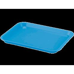 Plateau à instruments B-Lok sans compartiment Néon Bleu
