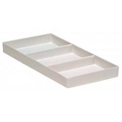 Plateau avec 3 compartiments (9,5 x 20 cm) Blanc