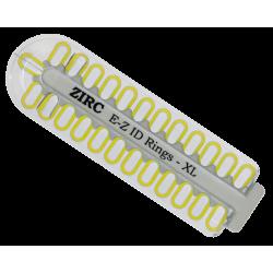 Kit d'anneaux silicone Ø1cm (x25) neon jaune