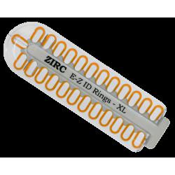 Kit d'anneaux silicone Ø1cm (x25) neon orange