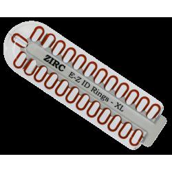 Kit d'anneaux silicone Ø1cm (x25) rouge