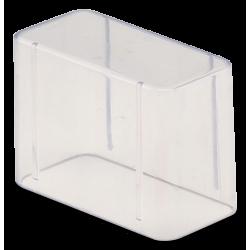 Couvercle Bur Block Haut (14 trous - H.5,1 cm) transparent