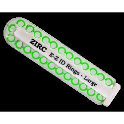 Kit d'anneaux silicone Ø6cm (x25) neon vert