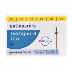 Pointes Gutta IsoTaper 4% n°25 Steriblue