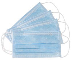 Masque de protection 3 bleu ciel Monoart (x50)