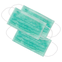 Masque de protection 3 vert Monoart (x50)